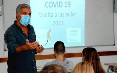 CHARLA SOBRE MEDIDAS PREVENTIVAS PARA EVITAR EL COVID